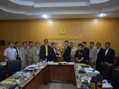 ดร.มโน ชุนดี ผอ. สพป.ลพบุรี เขต 2  ร่วมแสดงความยินดีกับนายนิวัฒน์ รุ่งสาคร  ในโอกาสรับตำแหน่งผู้ว่าราชการจังหวัดลพบุรี และร่วมประชุมคณะกรรมการศึกษาธิการจังหวัดลพบุรี ครั้งที่ 11/2563